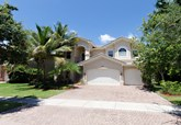 6 bedroom estate home with pool on water in canyon isles